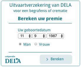 Bereken premie van DELA uitvaartverzekering